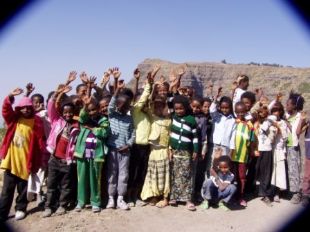 The Kindu Kids at the top of the Simien Mountains!