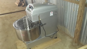 Mixing machine at the Kindu bakery