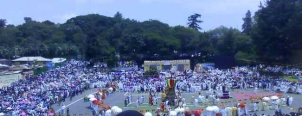 The festival of Meskel is celebrated in full colour in Gondar, Ethiopia